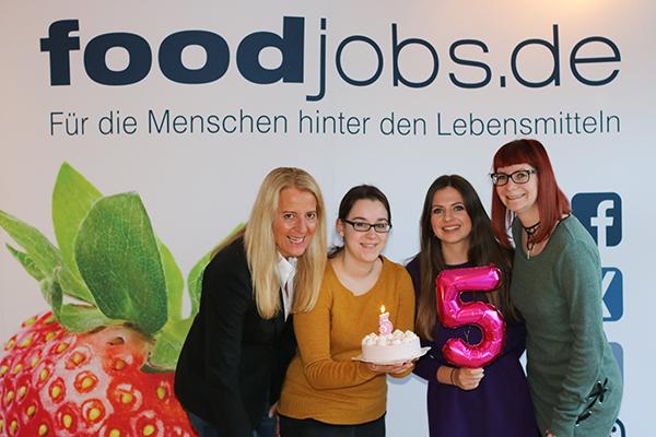 5 Jahre foodjobs.de Team