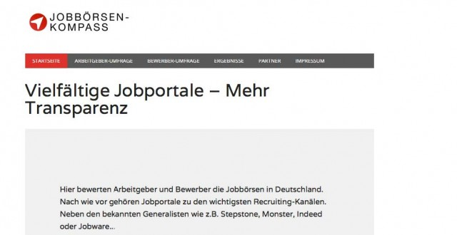 Homepage Jobbörsen-Kompass